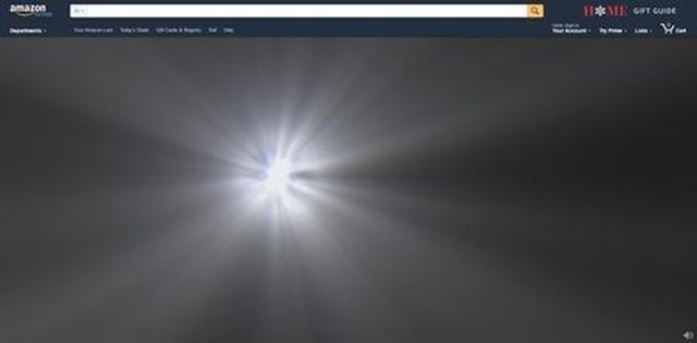 画像: 強い光がだんだんと画面いっぱいに広がっていく。