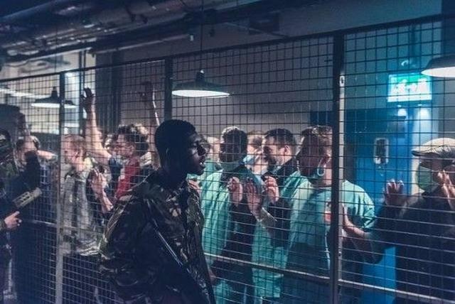 画像: ゾンビ映画『28日後...』のイベント会場。