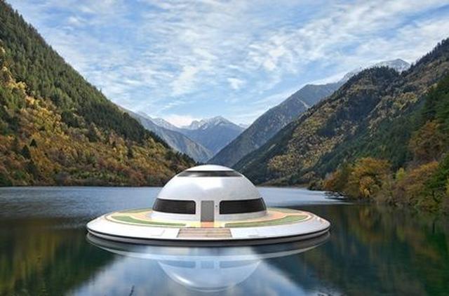 画像1: UFO形の海の乗り物