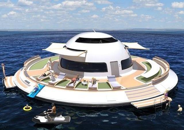 画像2: UFO形の海の乗り物