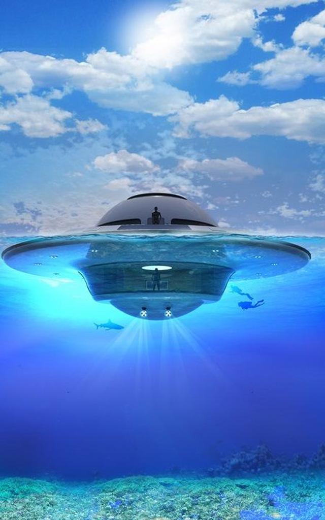 画像3: UFO形の海の乗り物