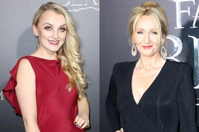 画像: イヴァナ(左)とJKローリング(右)。