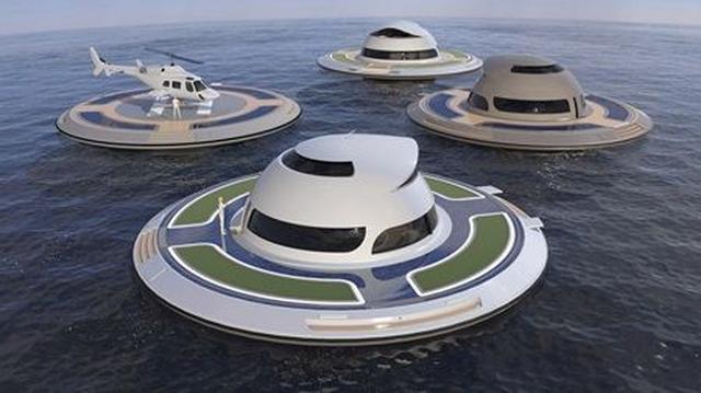 画像7: UFO形の海の乗り物