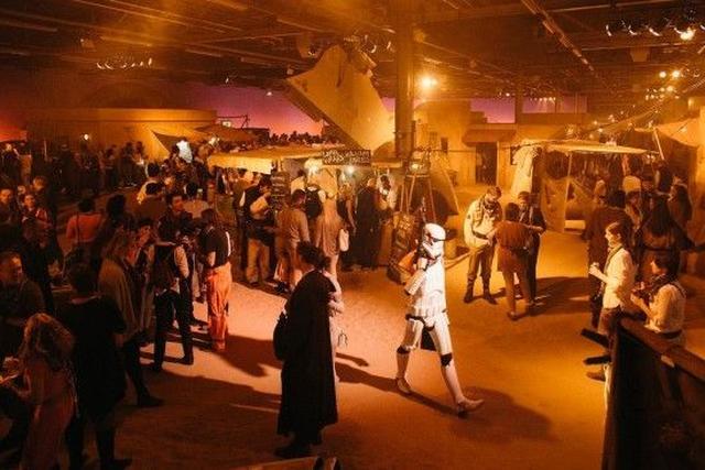 画像: 『スター・ウォーズ エピソード5/帝国の逆襲』のイベント会場。