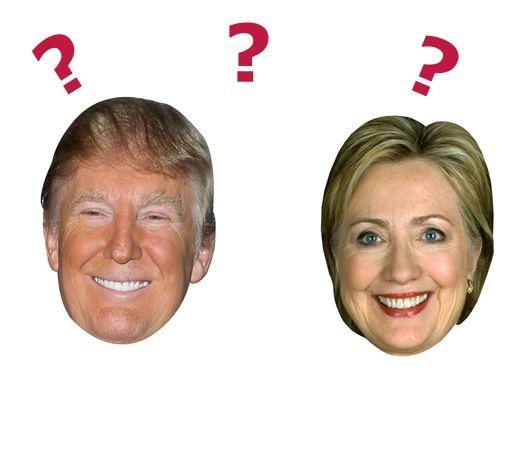 画像: アメリカ大統領選の後により売れているのお面は「トランプ」?「ヒラリー」?