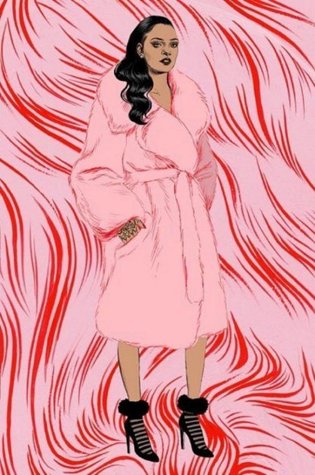 画像1: ファー、リボン、サンタ...リアーナのコラボ靴下にホリデーコレクションが追加!