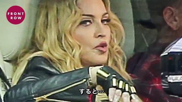 """画像: 話題の""""相乗りカラオケ""""で、車中で髪を振り乱すマドンナを発見! youtu.be"""