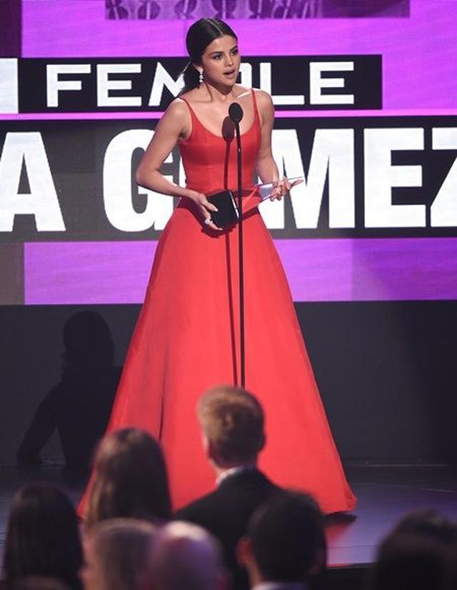 画像: AMAでスピーチをするセレーナ。