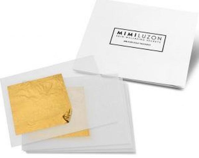 画像: ミミが開発した自宅で使える24カラットの純金ゴールドマスクキットはシワ防止用の保湿ジェルマスクとセットで3回分/定価300ドル(約33,000円)。現在はプレオーダーを受け付けていて、日本からも 購入が可能。