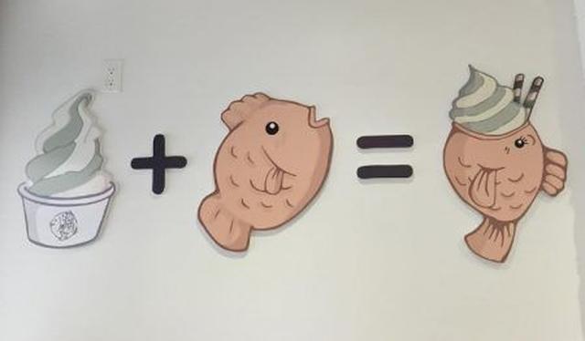 画像: 店内の壁に掲げられたキュートな方程式。