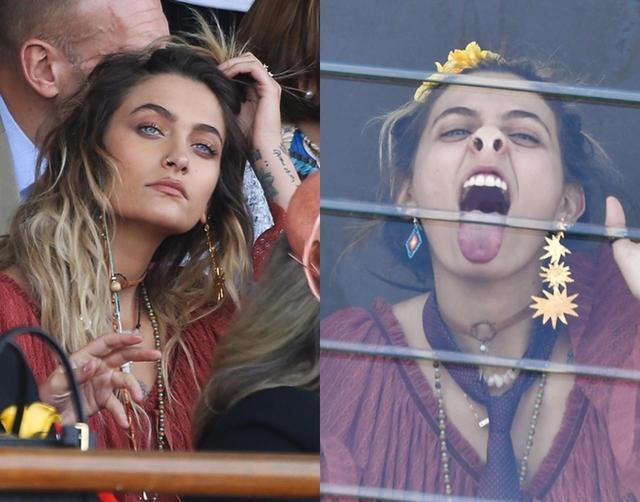 画像7: マイケル・ジャクソンの美人娘、国民的イベントで渾身の変顔