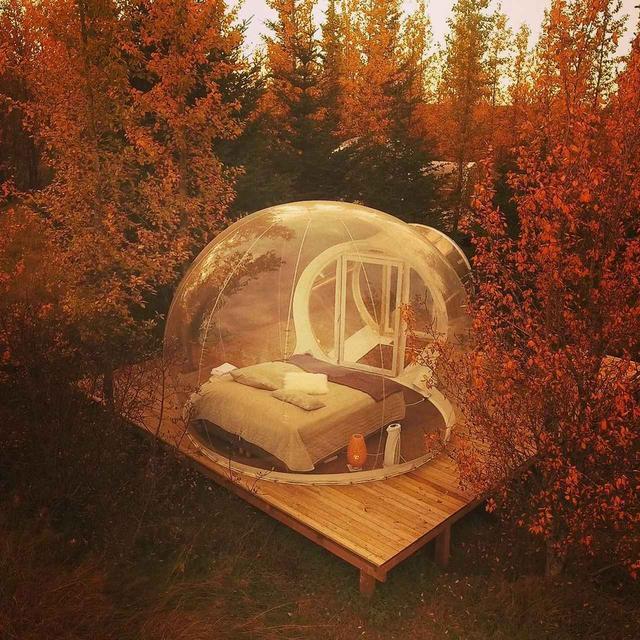 画像1: 無数の星やオーロラを見ながら寝落ちできる!夢のようなホテルが人気