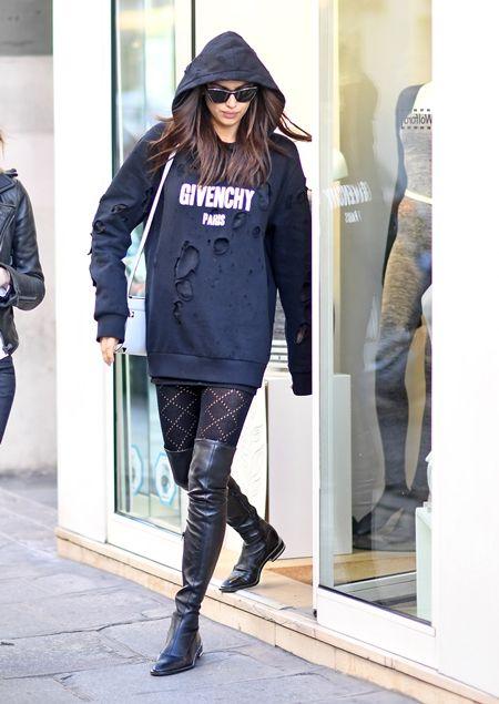 画像: 10月4日 モデルのイリーナ・シェイク @パリ ショッピング