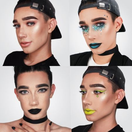画像: ナチュラルなメイクから、カラフルで個性的なメイクまで、女子顔負けのテクニックを披露しているジェームス。