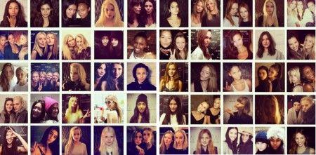 画像: モデル・ラウンジを訪れたモデルたちの数々。見覚えのある顔がたくさん。