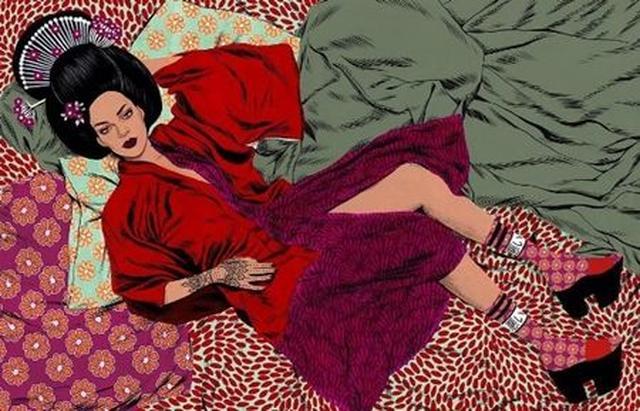 画像5: 「うるせえ」、芸者...、リアーナが日本風の靴下をデザイン