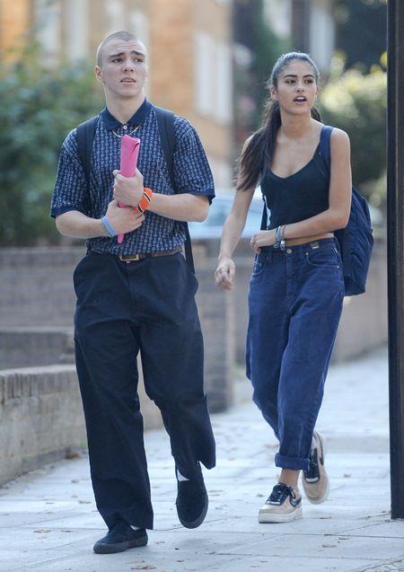 画像: 9月半ばにロンドン市内を一緒に歩くロッコ(左)とキム(右)。