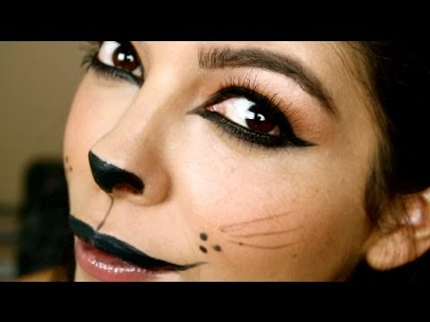 画像: (EASY) Halloween Makeup Tutorial: Kitty Cat youtu.be