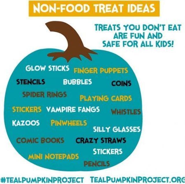 画像: 食べもの以外のミニギフトのアイディア集。シールやシャボン玉、鉛筆、指人形など小さな子供が喜びそうなものを代わりに用意する家庭も増えている。 ⒸTealPumpkin.org
