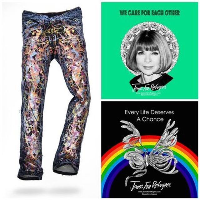 画像: 米Vogue誌編集長のアナ・ウィンターが寄付したジーンズ。