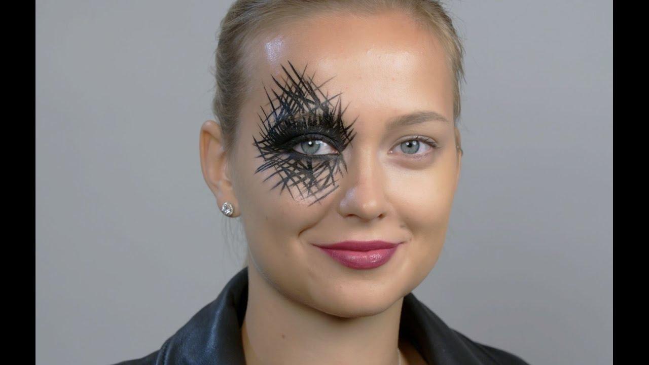 画像: Halloween Makeup Ideas: Spiderweb Eyes youtu.be