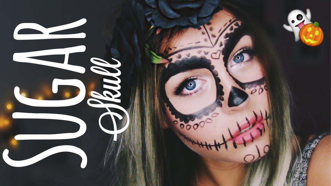画像: LAST MINUTE HALLOWEEN Make up - Sugar Skull | Dagi Bee youtu.be