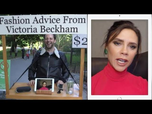 画像: Victoria Beckham Gives Strangers Fashion Advice for $2 in Central Park | Vanity Fair www.youtube.com