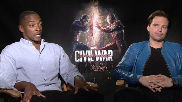 画像: Captain America: Civil War Interview - Anthony Mackie and Sebastian Stan www.youtube.com