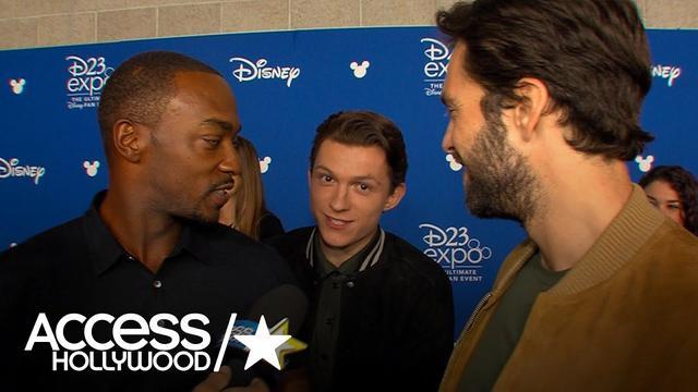 画像: 'Avengers: Infinity War' At D23: Anthony Mackie's Hilarious' Red Carpet Interplay With Tom Holland www.youtube.com