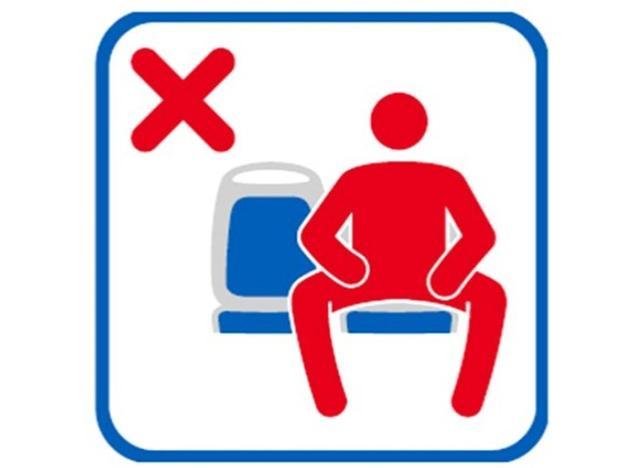 画像: スペインの電車内に貼られている「マンスプレッディング禁止」のサイン©Ayuntamiento Madrid/ Twitter