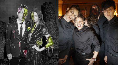 画像: 大手出版会社ハースト社の令嬢でモデルのリディア・ハーストとTV司会者のクリス・ハードウィックは人気ドラマ『ウォーキング・デッド』をテーマに挙式。披露宴にはゾンビウェイターも登場。 ⒸLydia Hearst