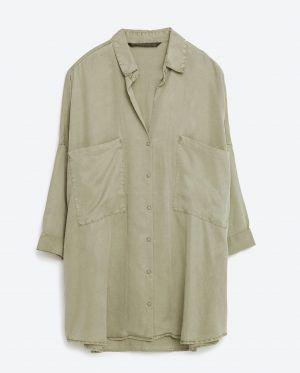 画像: ZARA ビッグシルエットシャツ ¥4,990