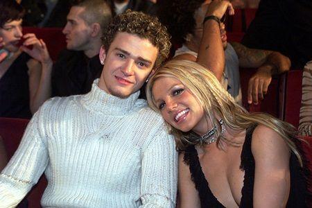 画像: 交際時のジャスティンとブリトニー。