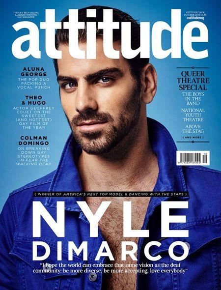 画像: ナイルが表紙を飾ったAttitude誌。