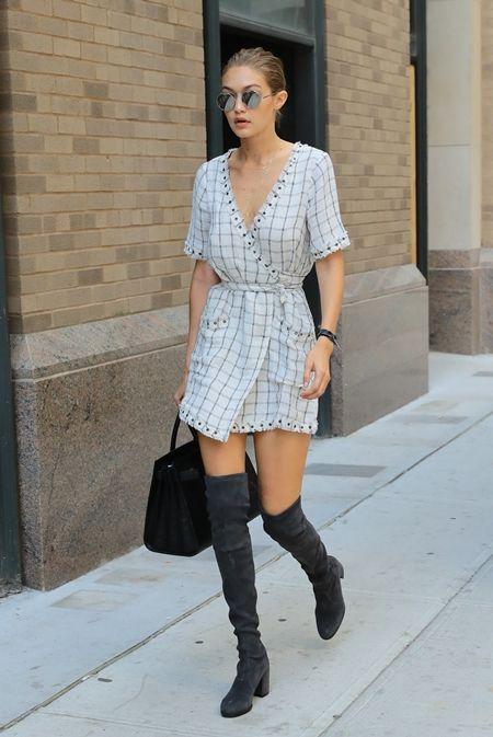 画像: 9月5日 モデルのジジ・ハディッド @NY ファッションウィーク中