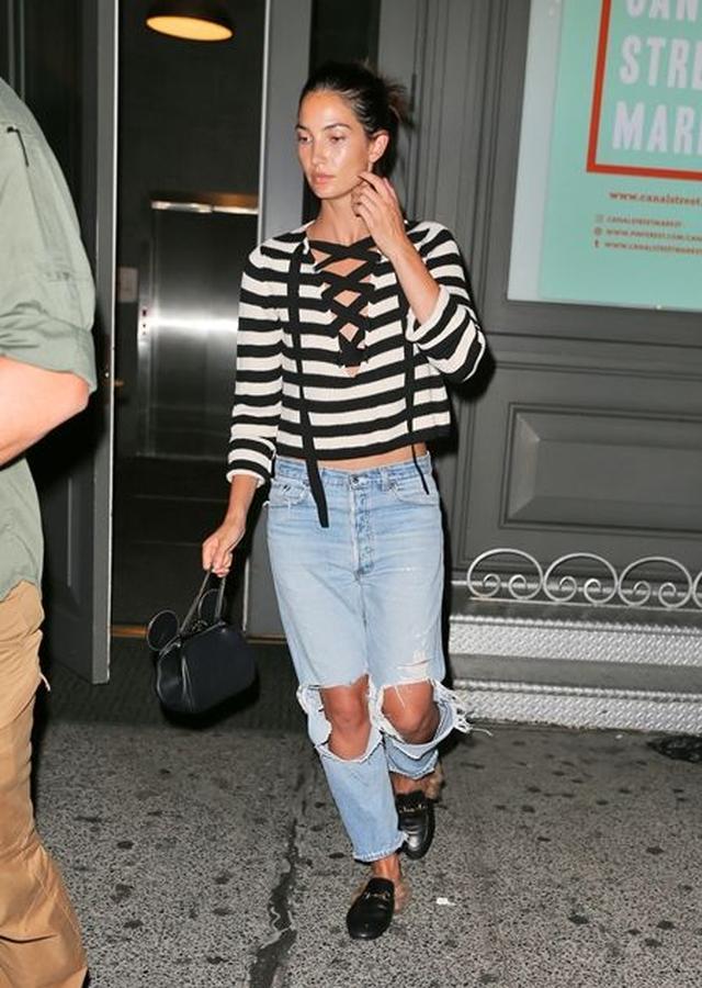 画像: 9月7日 モデルのリリー・オルドリッジ @NY 友達とホテルへ