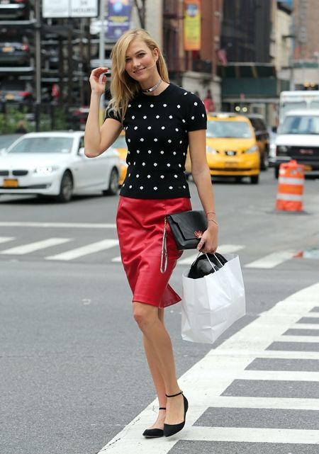 画像: 9月7日 モデルのカーリークロス @NY フリーマーケットへ