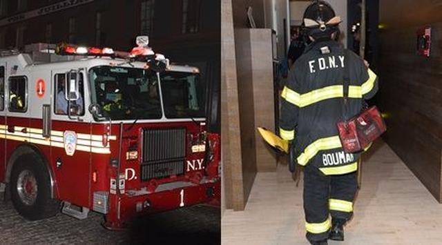 画像: 建物の外には消防車が乗りつけるほどの騒ぎに。