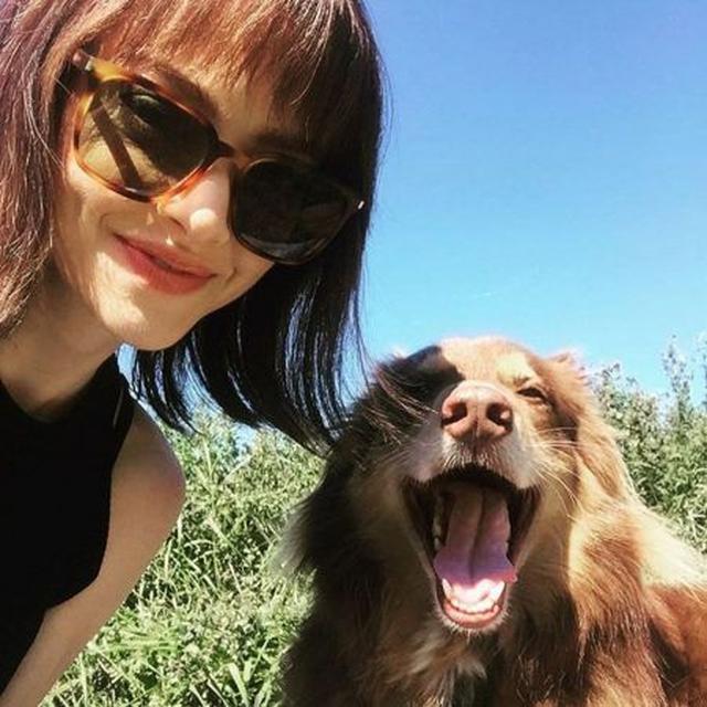 画像: ちなみにアマンダは現在役作りのためトレードマークの金髪ロングヘアからブラウンのボブヘアにイメチェン中。