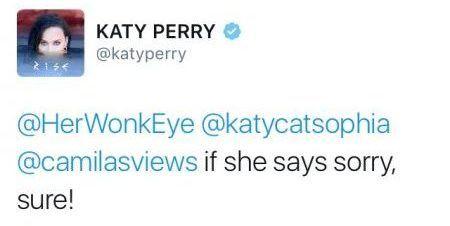 画像: ケイティのツイート。