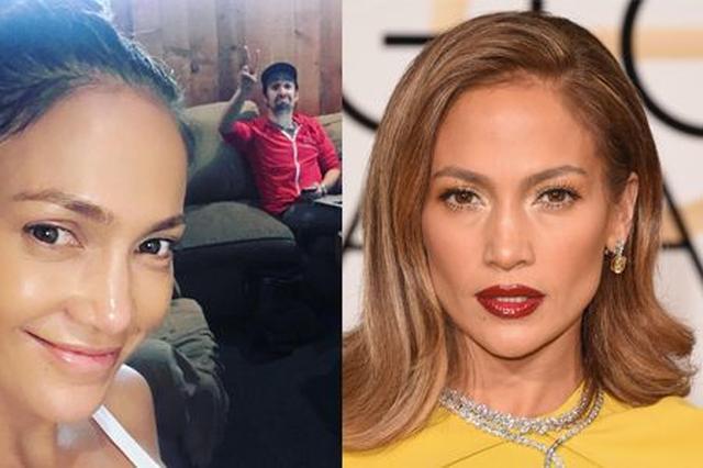 画像: 先月47歳を迎えたジェニファー。素顔のほうが断然若く見える! Ⓒ Jennifer Lopez
