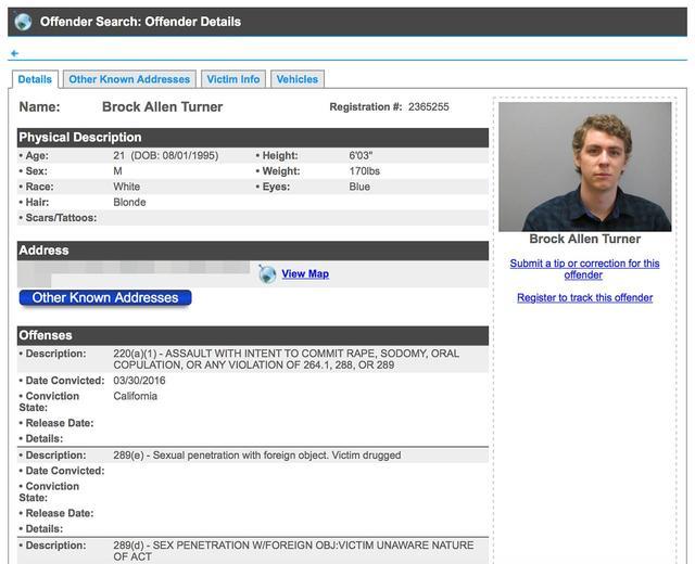 画像: 名前と住所が郡の「性犯罪者ウェブサイト」に載せられており、誰でも閲覧できるようになっている。