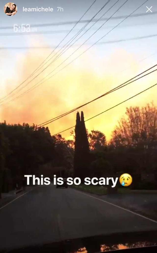 画像: 「すごく怖い」と涙マークの絵文字を添えた写真をインスタグラム・ストーリーで公開。©Lea Michele/Instagram