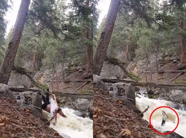 画像3: 大自然で「ヨガ」をしていた女性が川に転落、激流に飲み込まれる
