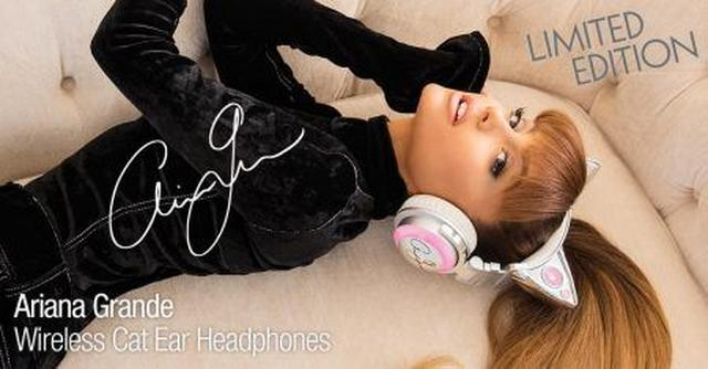 画像1: アリアナ・グランデがキュートな猫耳つきヘッドホンを発売!