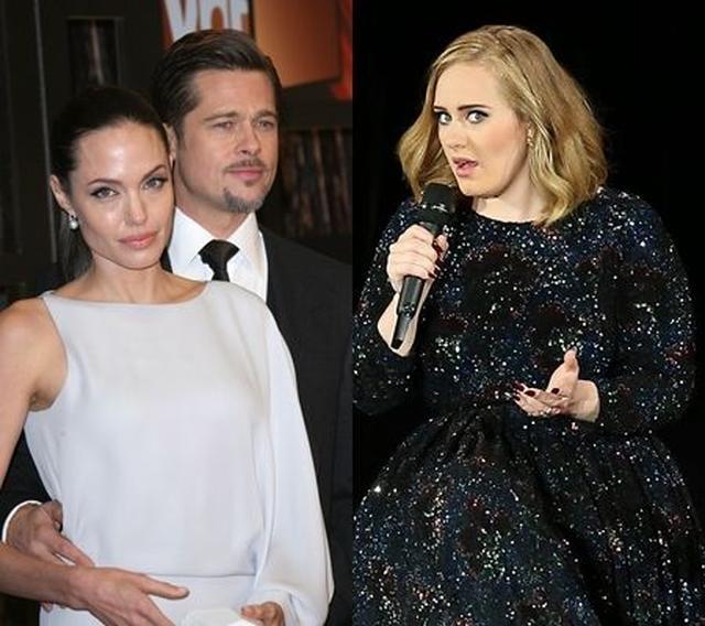 画像: アンジェリーナ&ブラッド離婚にショックの歌手アデル、ツアー公演を彼らに捧げる