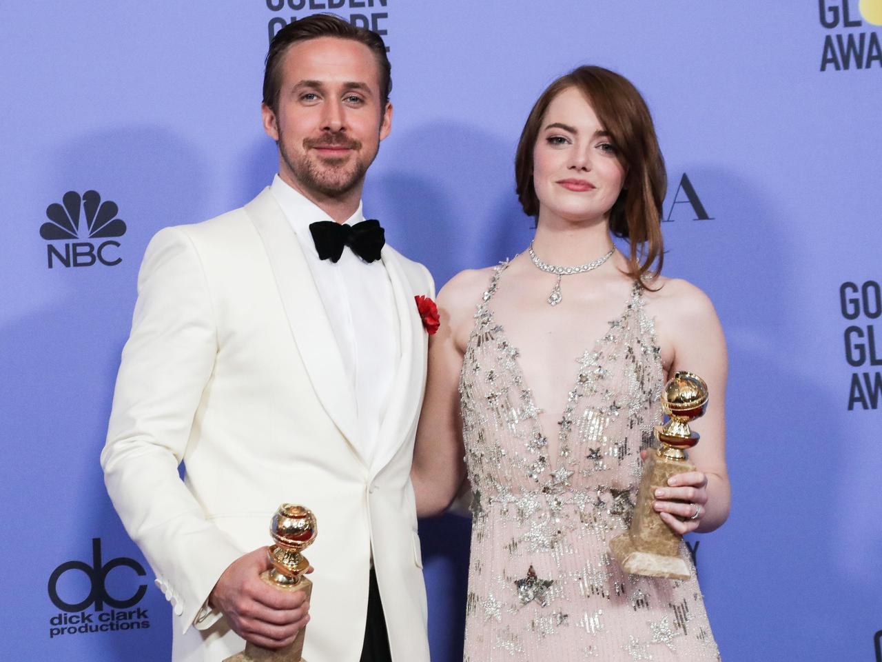 画像: 去年史上最多7部門を受賞した映画『ラ・ラ・ランド』の主演を務めた、ライアン・ゴズリングとエマ・ストーン。
