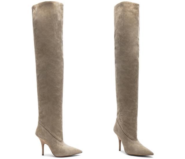 画像: 【YEEZY】 Season 5 Suede Tubular Thigh High Boots $1213 www.fwrd.com