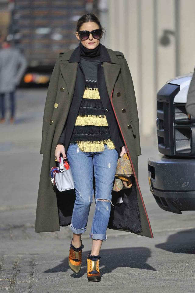 画像6: 海外セレブはこう着こなす!真冬に履くデニムの最旬コーディネート集