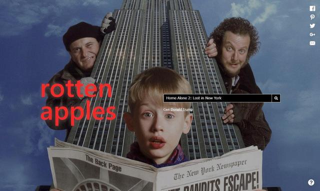 画像: 映画『ホーム・アローン2』で検索してみると、過去にセクハラ被害を告発されたドナルド・トランプ米大統領の名前が表示された。